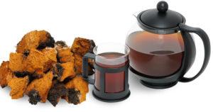 Chaga Pilz und Chaga Tee